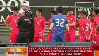 BT: Azkals, kampante sa tiyansa sa 2014 Asian Football confederation challenge cup qualifiers