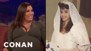 Eva Longoria Worked At Wendy's Illegally To Pay For Her Quinceañera  - CONAN on TBS