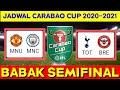 Jadwal Semifinal Piala Liga inggris | Man united vs Man city | Carabao cup 2020-2021 semifinal |live