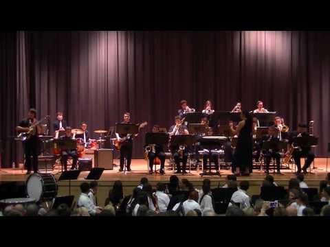 "The Tottenville High School Jazz Band performs ""Caravan"" with Michael Oddo on drumset!"