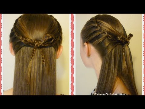 Faux French Braids and Cross Bow Hairstyle Tutorial