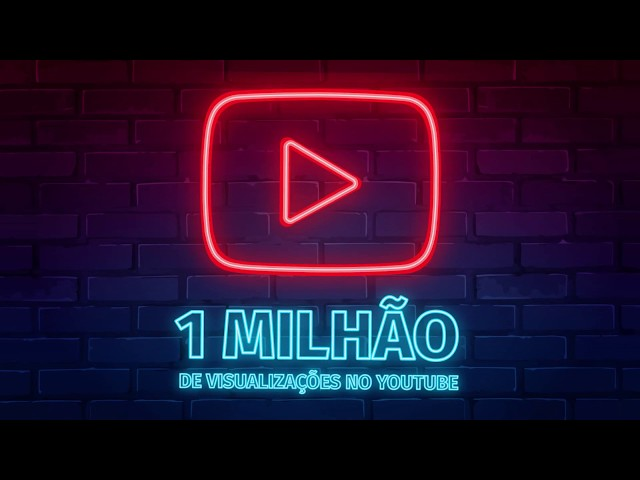 Alcançamos 1 milhão de visualizações no YouTube!!!