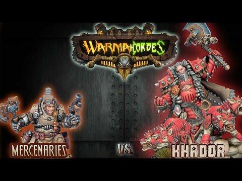 Warmachine & Hordes - Mercenaries (Ossrum) vs. Khador (Butcher3) - 75pt Battle Report