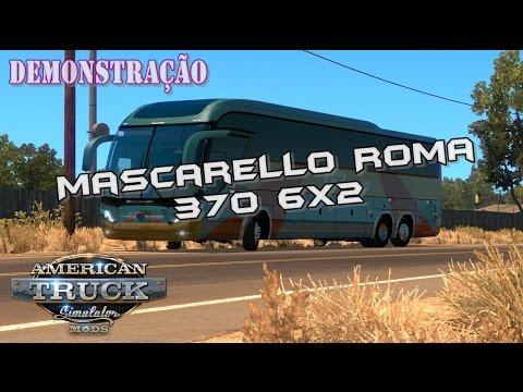 Ônibus Mascarello Roma 370 6x2 no American Truck Simulator!