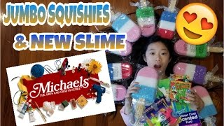 SLIME AND SQUISHIES AT MICHAELS~JUMBO SQUISHIES & NEW SLIME!!!