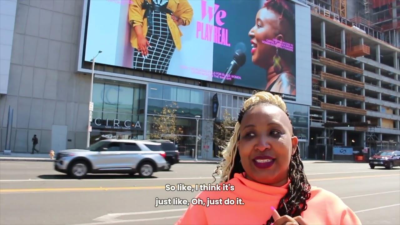 Shelly Bell x Nike Billboard Reaction