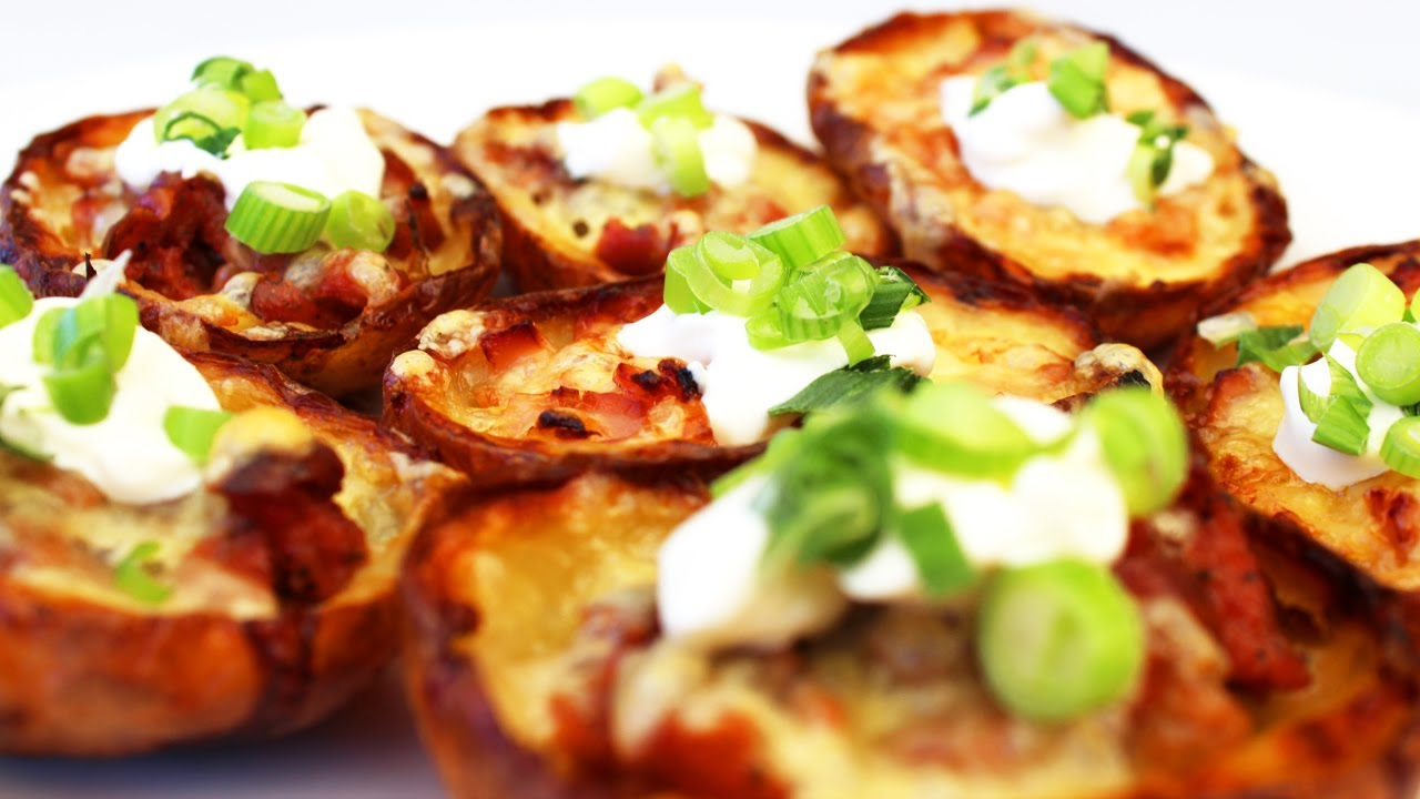 How To Make Potato Skins - Video Recipe - YouTube