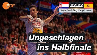 Kroatien - Spanien 22:22 - Highlights | Handball-EM 2020 - ZDF