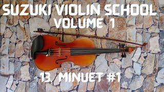 Suzuki Violin Book 1 #13 Minuet #1 in Practice Tempo