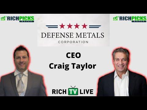 Defense Metals Corp CEO Craig Taylor (TSXV: DEFN) (OTCQB: DFMTF) (FSE: 35D)