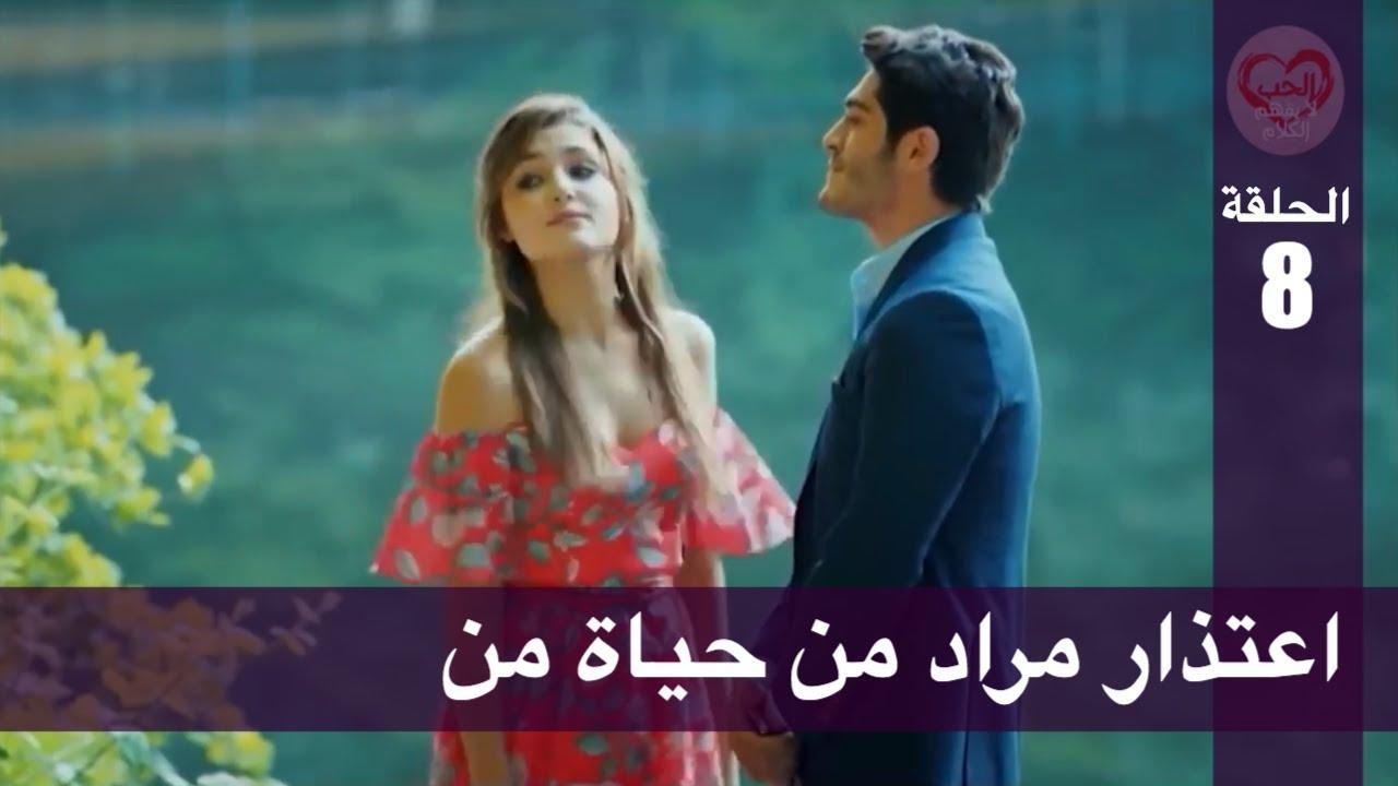 الحب لا يفهم الكلام الحلقة 8 اعتذار مراد من حياة من