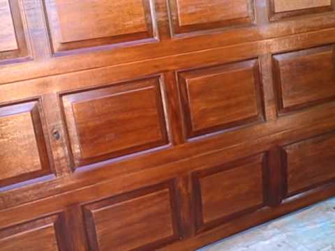 How To Woodgrain Garage Door - Part 17 Review after application! - YouTube & How To Woodgrain Garage Door - Part 17 Review after application ...