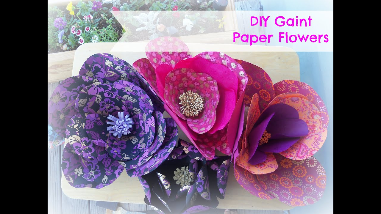 How To Make Giant Paper Flowers Diy Giant Flowers Backdrop