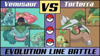 Download VENUSAUR vs. TORTERRA - Starter Evolution Line Battle! (Pokémon Sun/Moon) Mp3