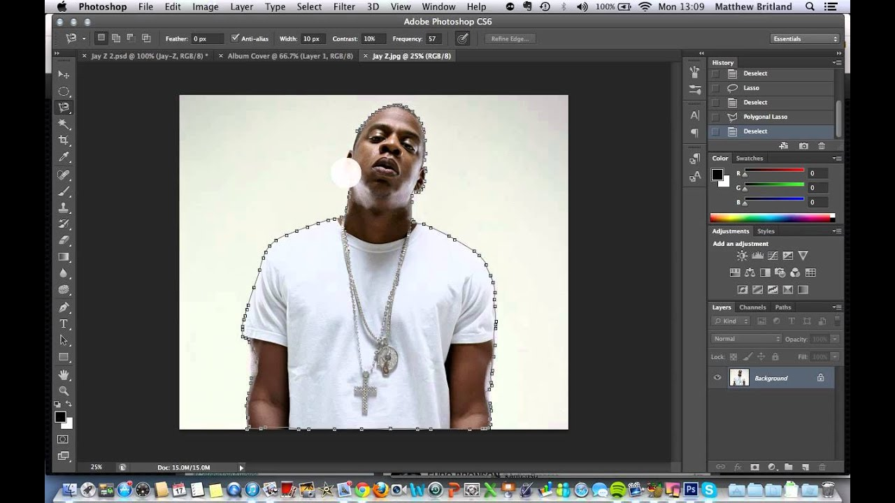 How to color your art in photoshop - Photoshop Album Cover Tutorial 1 Cutting Out Your Artist