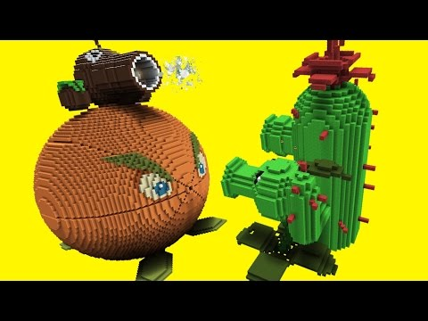 Thumbnail: Minecraft vs Plants vs Zombies | GIGA CITRON | PEA SHOOTER | COCONUT CANNON | CACTUS