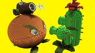 Minecraft vs Plants vs Zombies | GIGA CITRON | PEA SHOOTER | COCONUT CANNON | CACTUS
