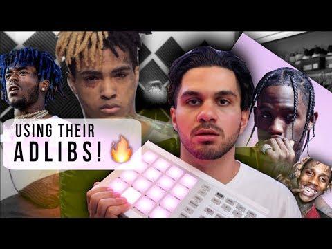 making a beat using rapper adlibs