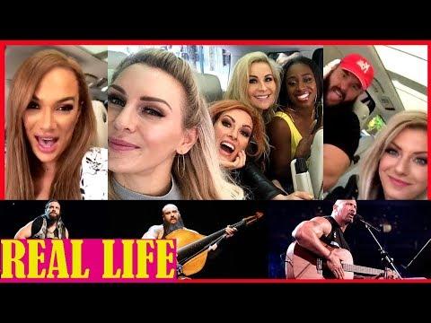 WWE Alexa Bliss, Braun Strowman, Becky Lynch, Charlotte Flair Karaoke  (Funny and Cute Moments)