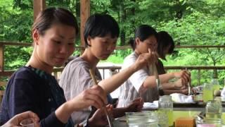 清水哲子さんを講師に迎え午前午後とにじみ絵とフォルメンの体験会がシ...