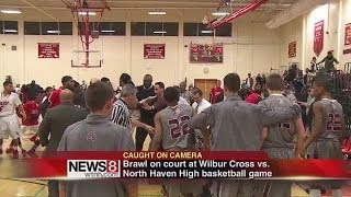 Fight stops high school basketball game