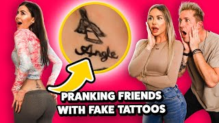I Pranked My Friends With FAKE TATTOOS !