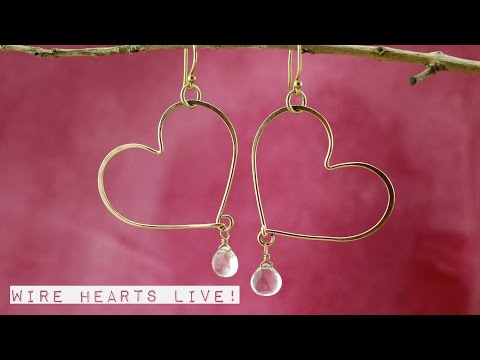 Making Wire Hearts Live at The Bead Gallery!