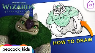 How to Draw AAARRRGGHH!!! From Wizards: Tales of Arcadia! | #CAMPDREAMWORKS DRAW-ALONG