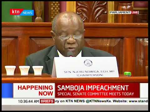 Samboja\'s fate: Special Senate Commitee meets today to discuss Samboja Impeachment case
