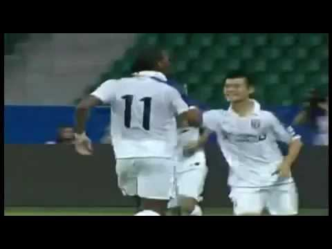 DIDIER DROGBA Individual Debut Highlights Guangzhou R and F vs Shanghai Shenhua 1 1 22/07/2012