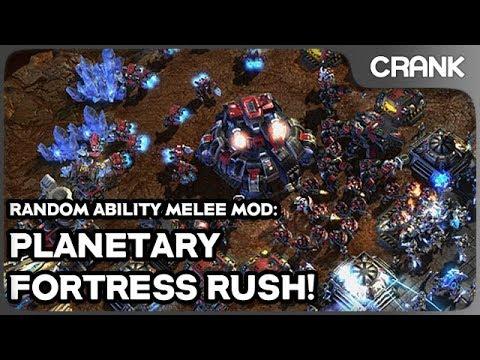 Planetary Fortress Rush! - Random Ability Melee Mod - Crank's StarCraft 2