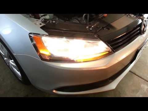 2012 VW Jetta Headlight - Testing After Changing Bulbs - Low Beam, High Beam, Turn Signal
