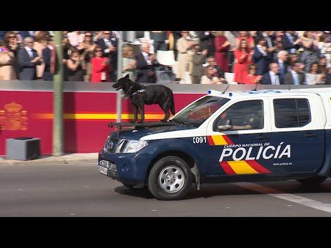 Policía Nacional desfila por primera vez en Día de la Hispanidad