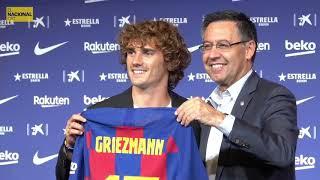 Bartomeu entrega la samarreta del Barça a Griezmann