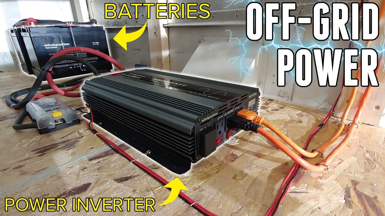 Adventure Bus Gets An Off Grid Electrical System Deep Cycle Power Inverter Systerm Batteries 3000w