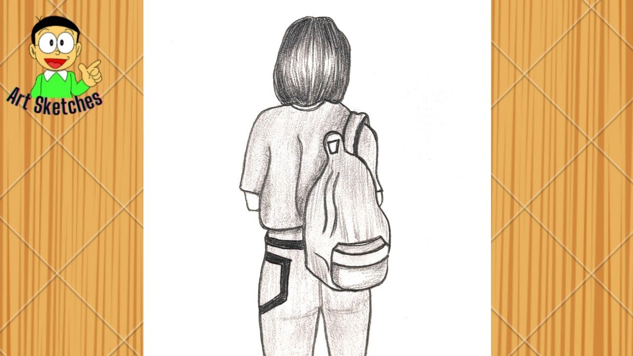 How to draw a Girl with Bag