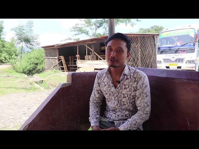 A talented bamboo crafter | Konsam Romesh