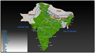Top Rivers In India [ भारत की २० प्रमुख नदियाँ ]