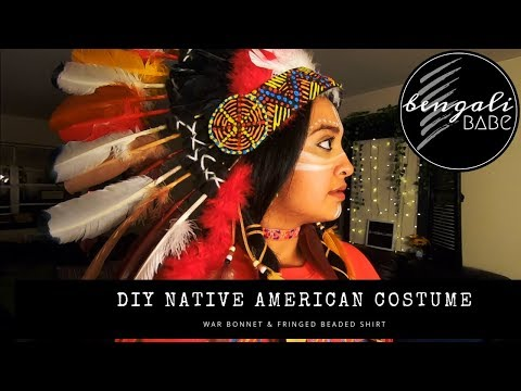 DIY: NATIVE AMERICAN COSTUME | WARBONNET + FRINGED BEADED SHIRT