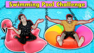 Funniest Swimming Pool Challenge | Hungry Birds