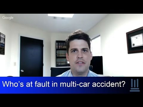 In a multi-car accident, who is at fault?  Kelly Law Team