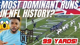 🇬🇧 BRIT Rugby Fan Reacts To The MOST DOMINANT RUNS IN NFL HISTORY - These Dudes Are TANKS!