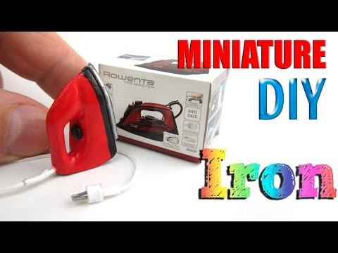 DIY Miniature How to make Iron for Barbie and Bratz dolls | DollHouse |