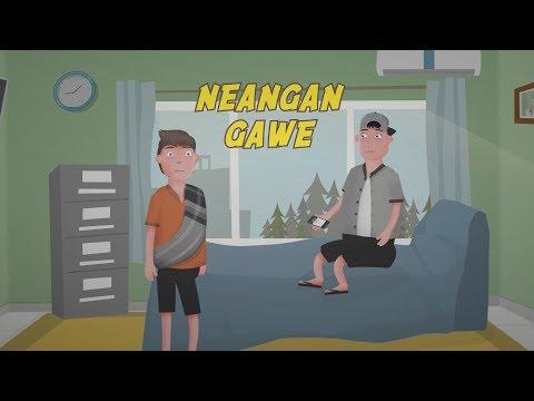 Neangan Gawe, Ngagawekeun Batur | Kartun Lucu Bahasa Sunda - KangCartoon