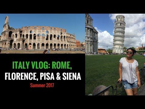 ROME, FLORENCE, PISA & SIENA VLOG | SUMMER 2017 | Europe Trip Part 2 | Sophie Lee