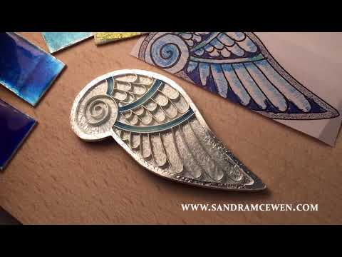 Adding Colors & Blending - Blue Angel Wing Pendant