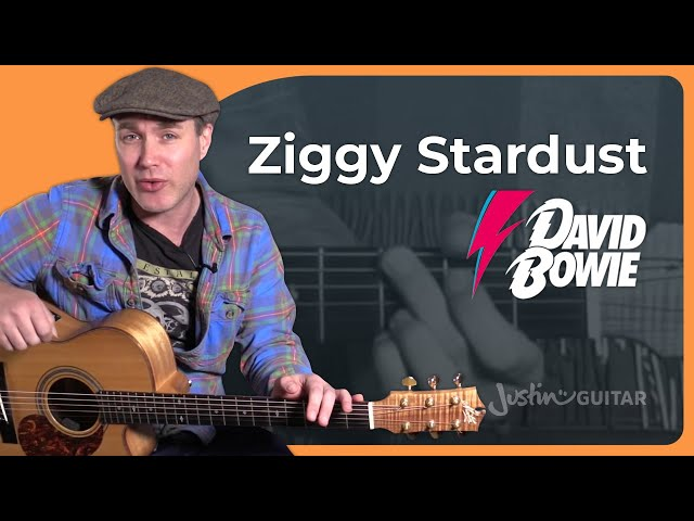 Guitar guitar chords ziggy stardust : Ziggy Stardust - David Bowie - Tribute Guitar Lesson Tutorial (BS ...