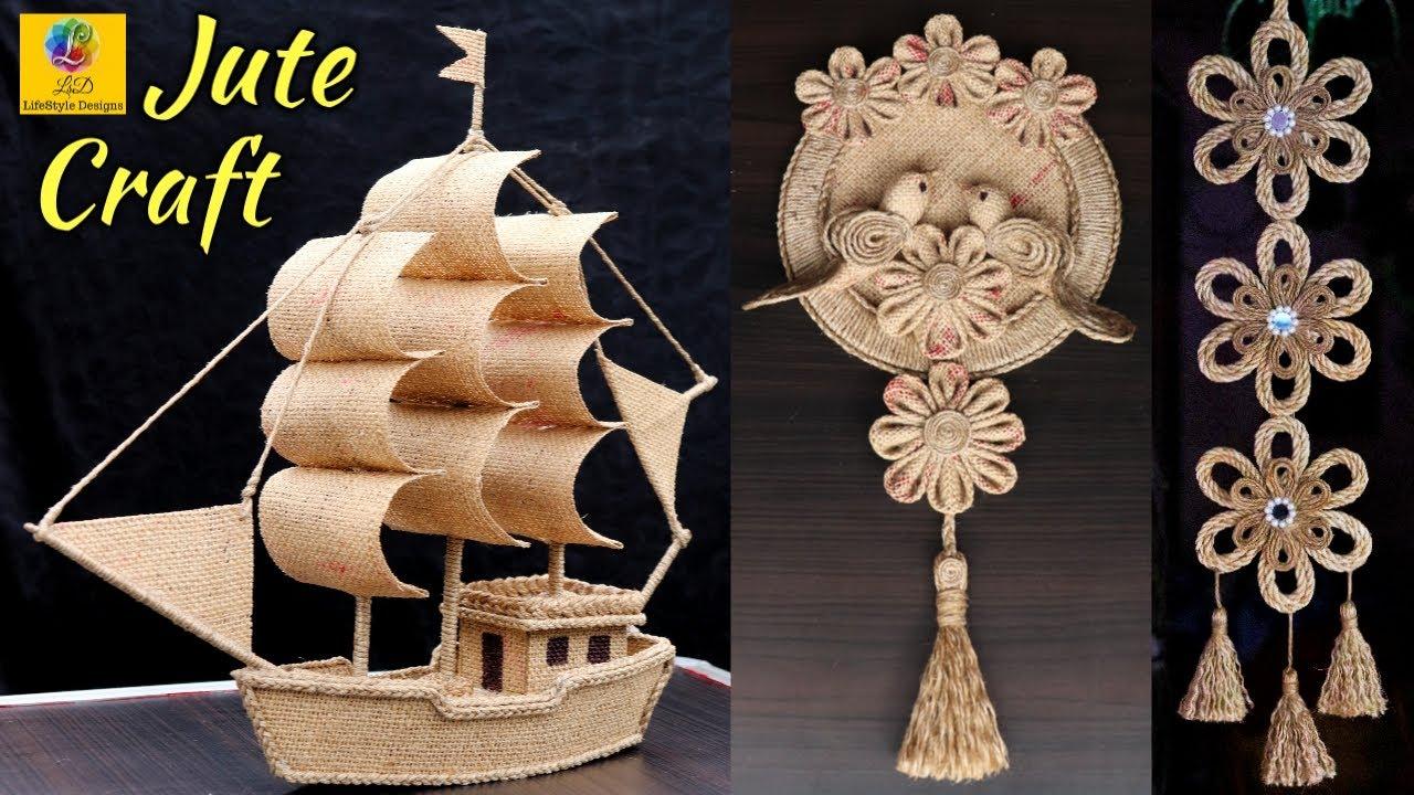 Best Collection Of Jute Craft Idea Diy Home Decorating Idea Handmade Jute Art And Craft Tutorial Monkey Viral