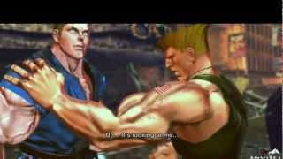 Street Fighter X Tekken : Guile & Abel Rival Battle Scene + Ending Cinematic [HD]