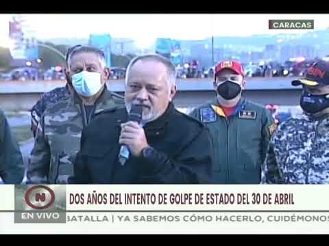 """Diosdado Cabello celebra 2do aniversario de derrota de """"rebelión de los plátanos"""" el 30 abril 2019"""